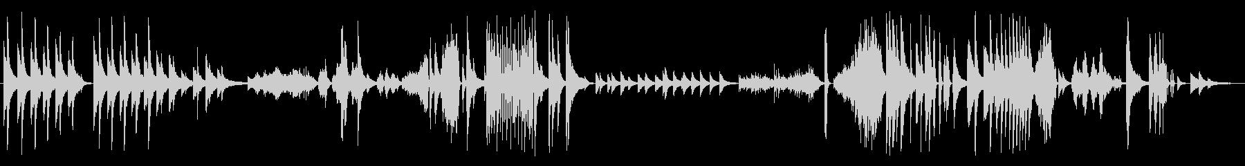 ソロピアノ。さまざまな画像、流れる...の未再生の波形