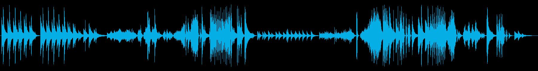 ソロピアノ。さまざまな画像、流れる...の再生済みの波形