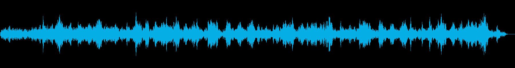 サスペンスホラー映像に合う怪しげな音楽の再生済みの波形
