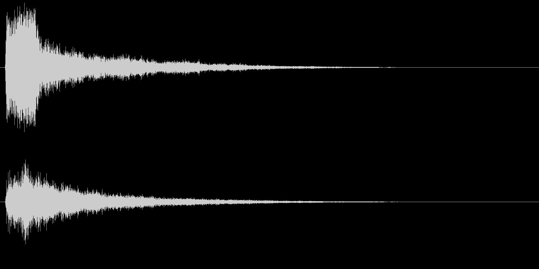 プシャッとした決定音 クリック スタートの未再生の波形