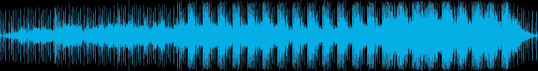ダークで落ち着いた感じの曲(ループ)の再生済みの波形