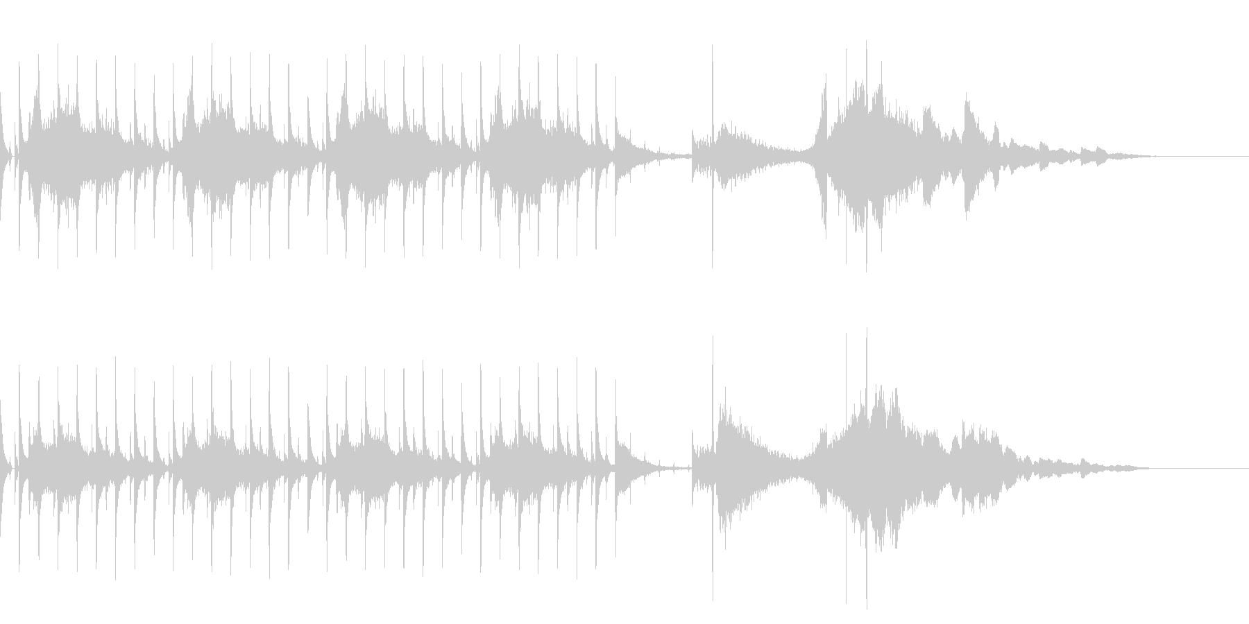 OP、ENDにも使える奇妙ビートボイスの未再生の波形