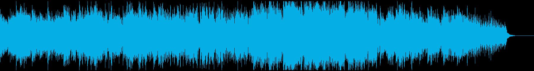 幽玄な和風エレクトロニカ 篠笛生演奏入りの再生済みの波形