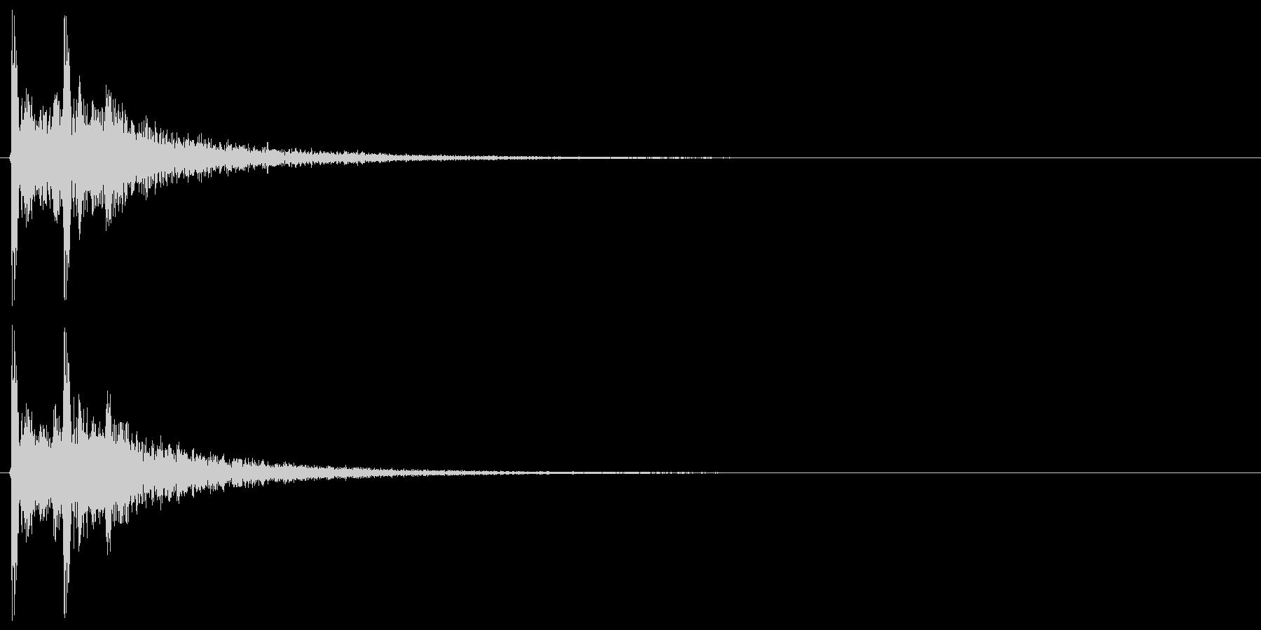 カカッ(和風、附け打ち)の未再生の波形