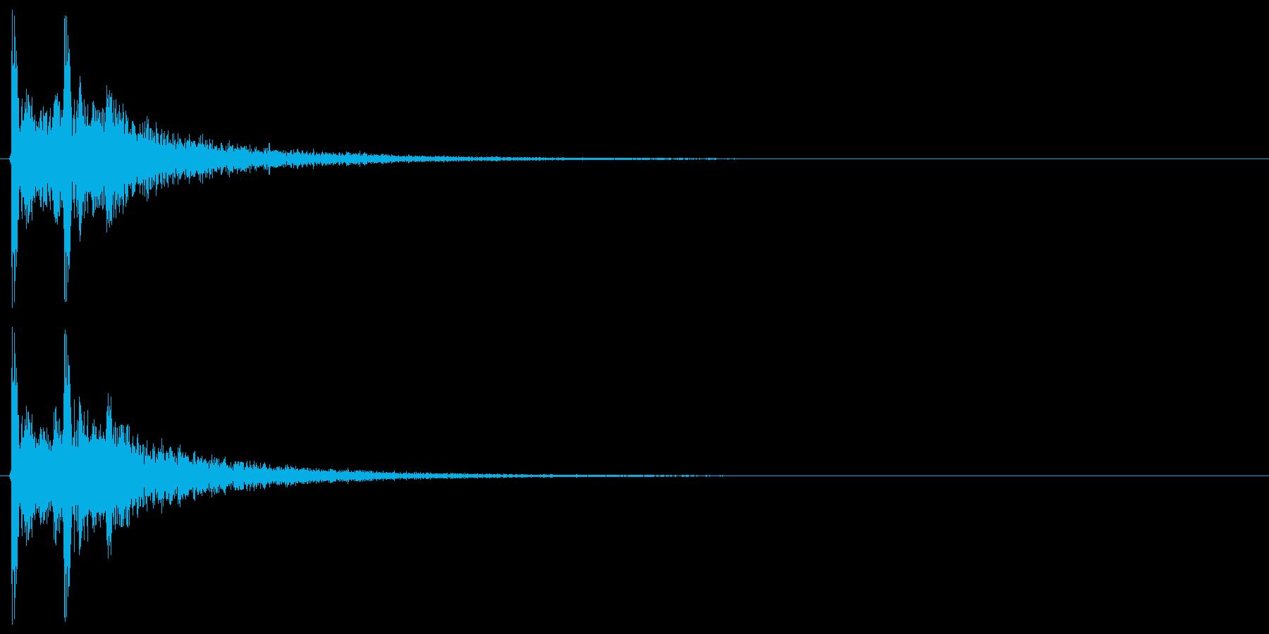 カカッ(和風、附け打ち)の再生済みの波形