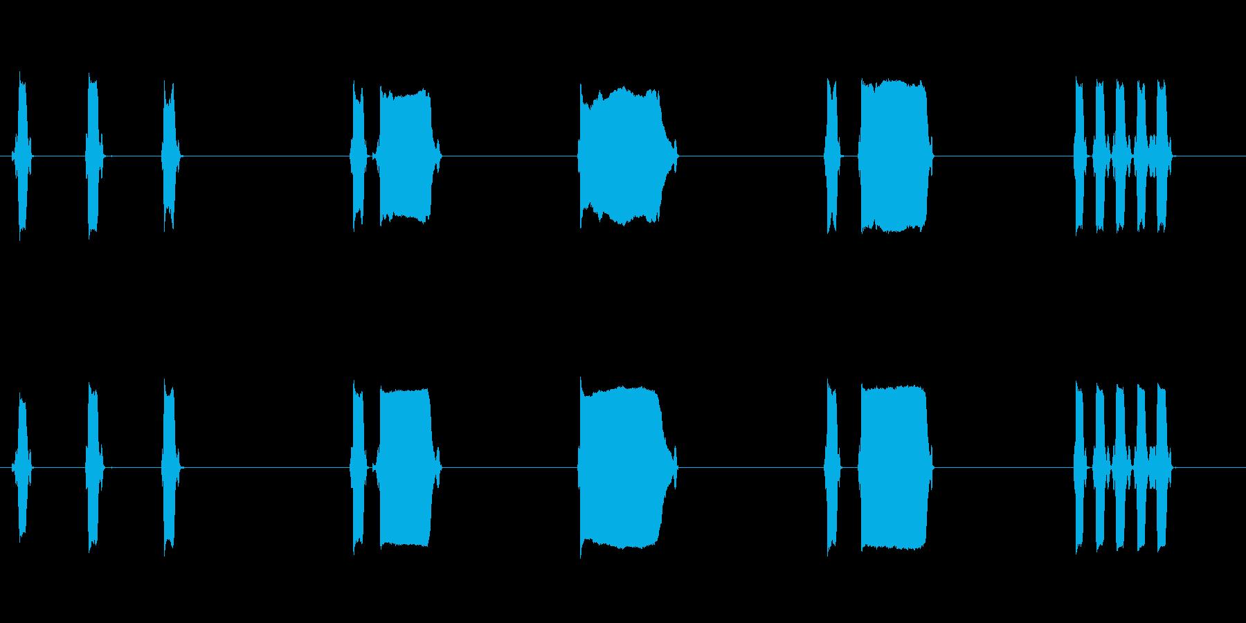 ホイッスルx5の再生済みの波形