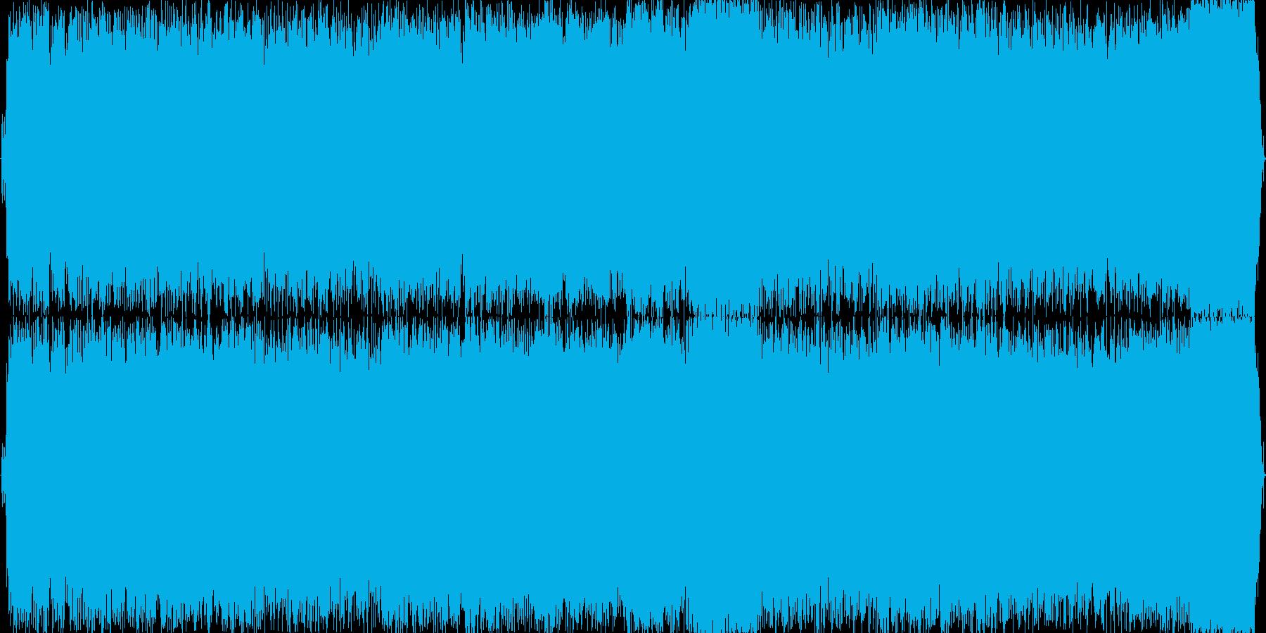 情熱的なギターソロのあるハードロックの再生済みの波形