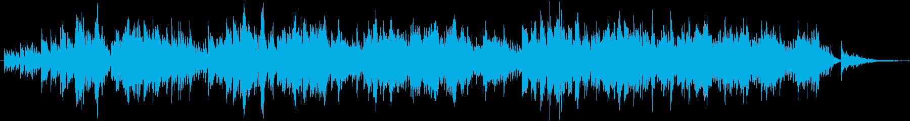 二胡の生演奏によるゆったりした曲の再生済みの波形
