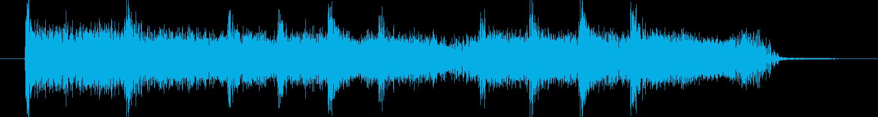 かっこいいフレーズのエレキギタージングルの再生済みの波形