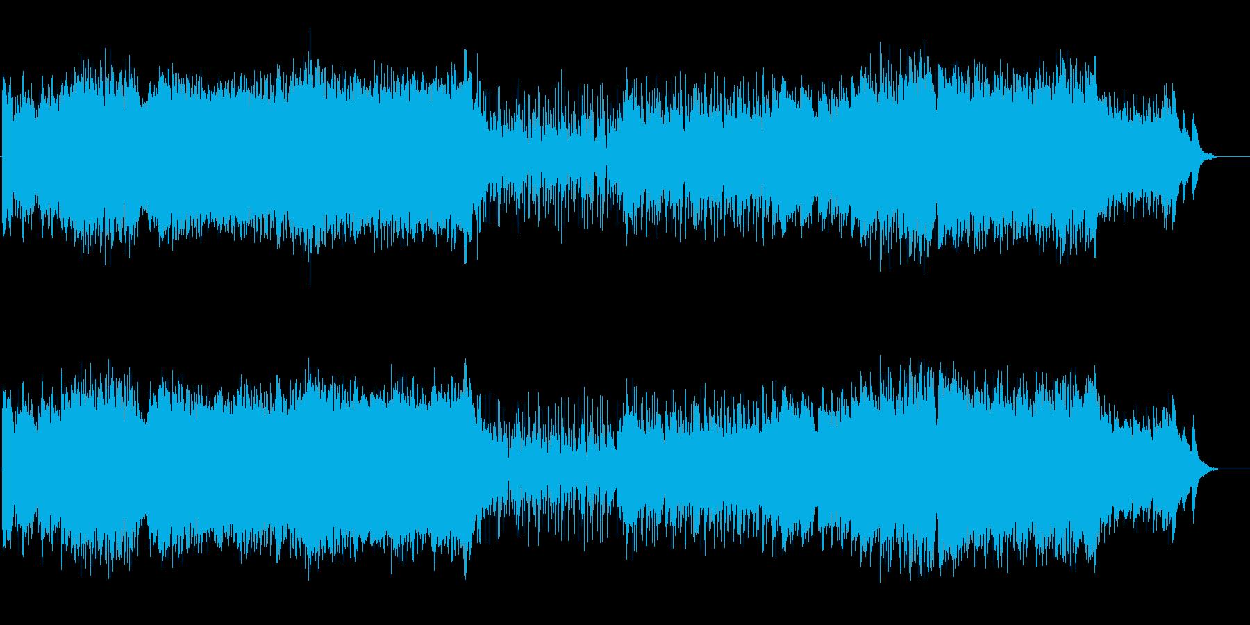 疾走感のある爽やか和風EDMの再生済みの波形