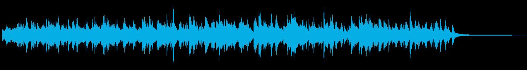 優しい雰囲気のピアノソロの再生済みの波形