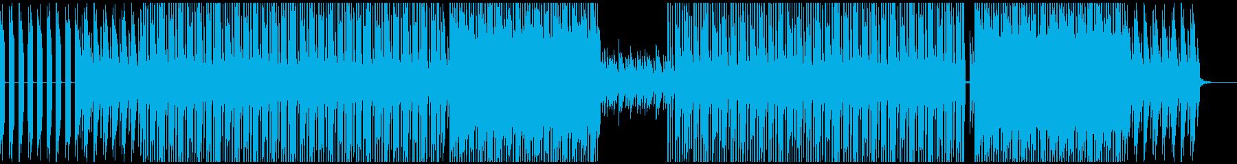 ピアノが印象的なヒップホップ系BGMの再生済みの波形