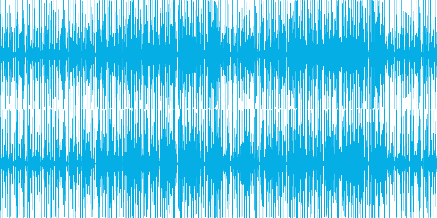 軽快で明るめのBGMの再生済みの波形