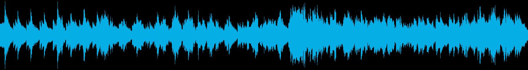 ハープとフルートのもの悲しいループBGMの再生済みの波形