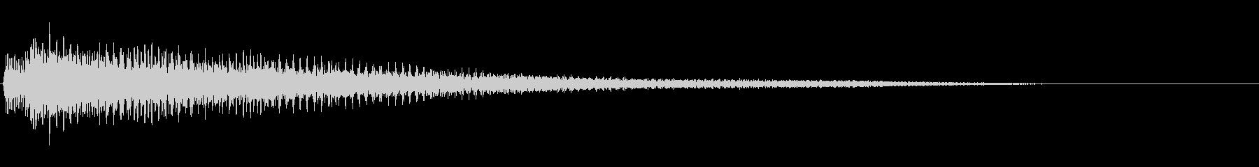 【ピアノ生演奏】明るいピアノジングルの未再生の波形