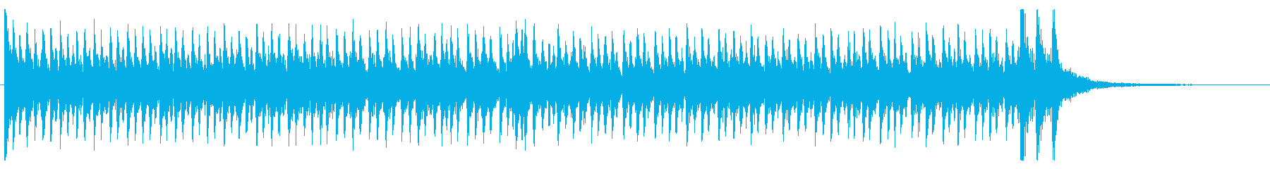 結果発表を盛り上げるドラムロール①の再生済みの波形