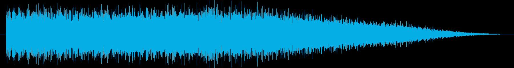 【生録音】ロードバイクのラチェット音の再生済みの波形