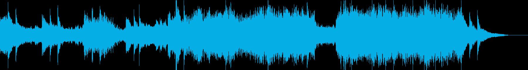 企業VPや映像に感動的ヴァイオリンBGMの再生済みの波形