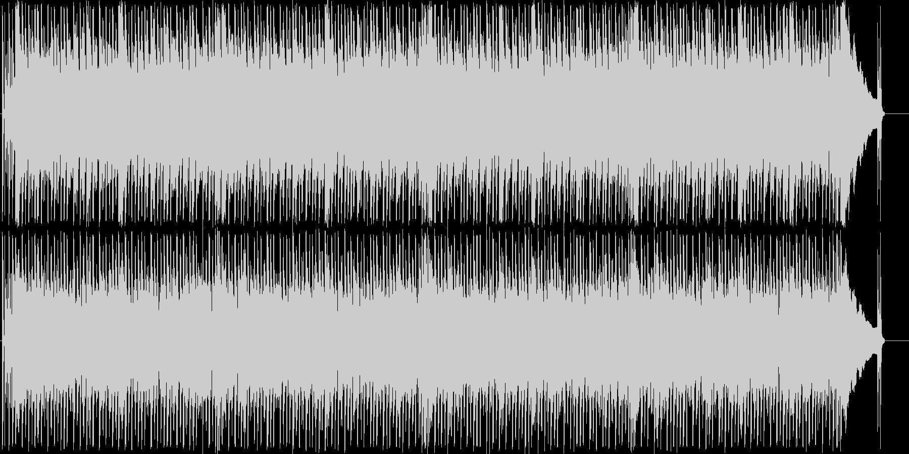 コミカルでわくわくするメロディーの未再生の波形