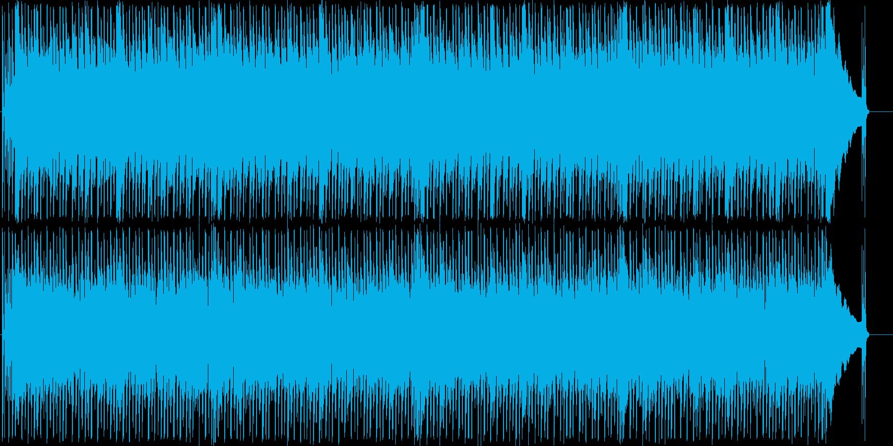 コミカルでわくわくするメロディーの再生済みの波形