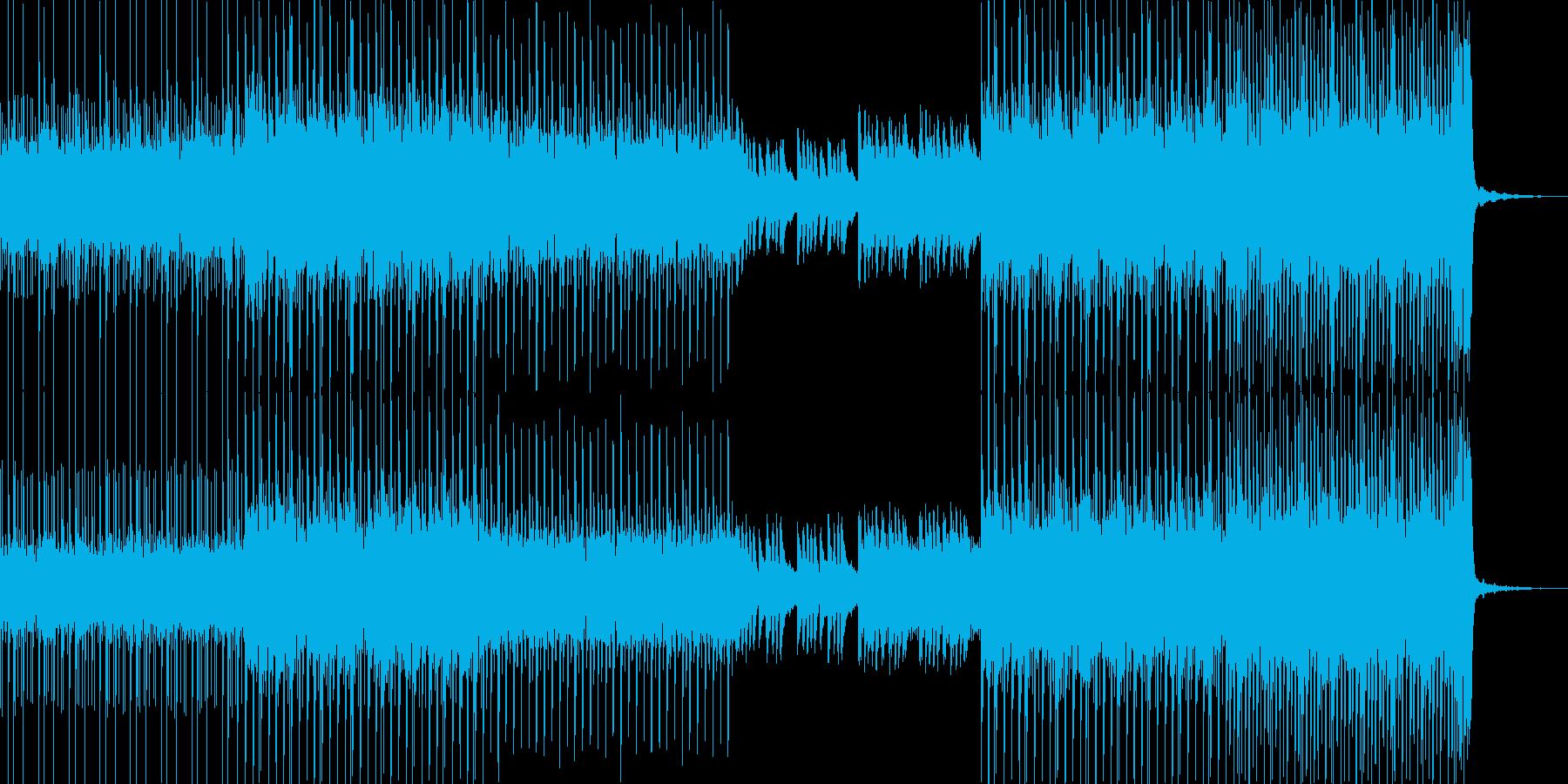 ミステリアスな雰囲気が漂うサスペンスな曲の再生済みの波形