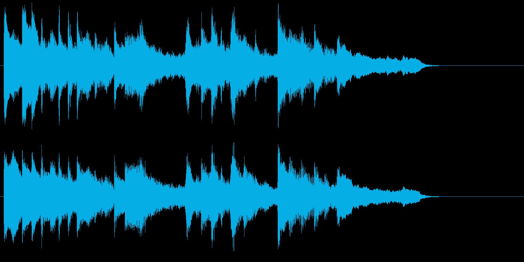 ゆったりと優しい安らぎのピアノジングルの再生済みの波形