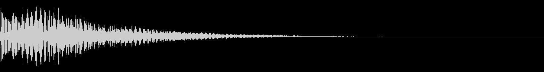 カーソルの決定音やお知らせ音の未再生の波形