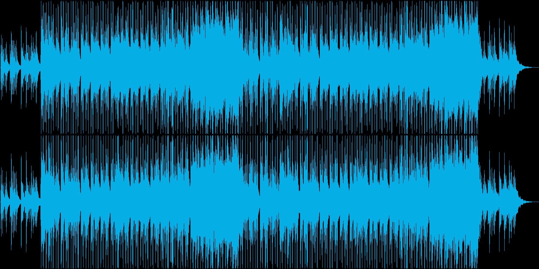 ピアノが中心のしんみりとしたBGMの再生済みの波形