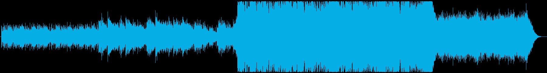 アコギ、シンセの悲しく神秘的なバラードの再生済みの波形