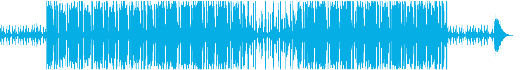 不気味な洋楽風 Hip-Hopビートの再生済みの波形
