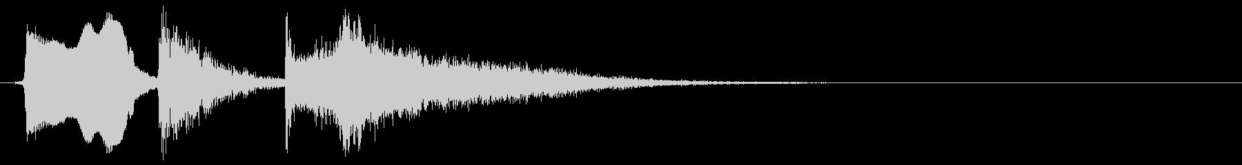 コミカルなトゥートボーイングホイッスルの未再生の波形