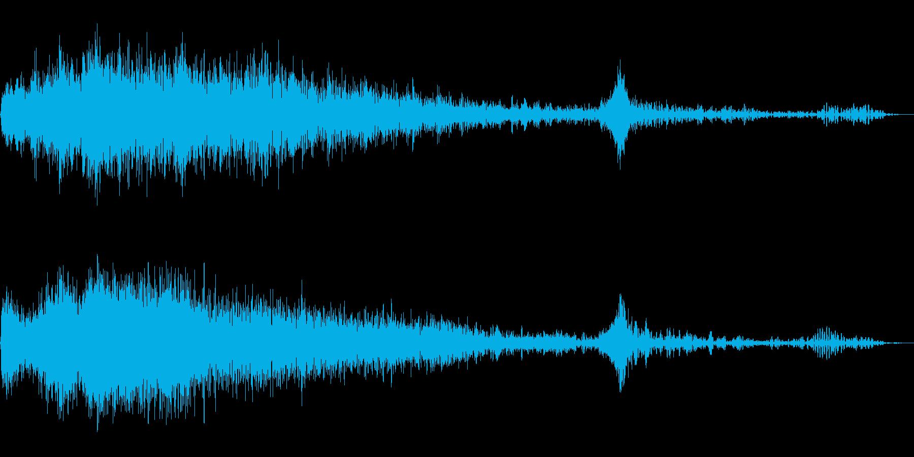 スパッタリングフレアの再生済みの波形