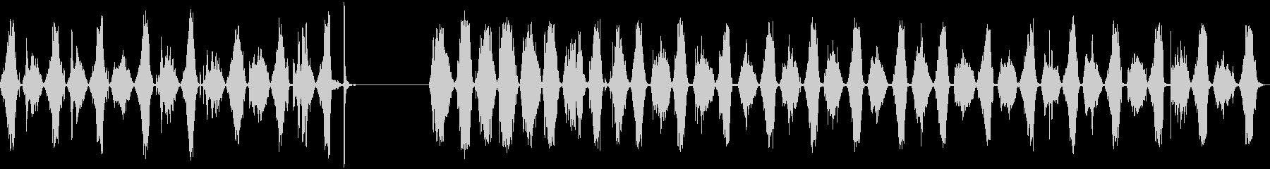 のこぎり、2つのバージョン、のこぎ...の未再生の波形