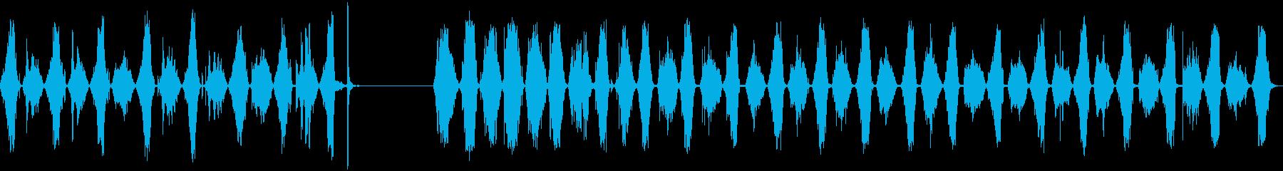 のこぎり、2つのバージョン、のこぎ...の再生済みの波形