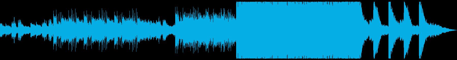 壮大でシンプルなトレーラー系BGMの再生済みの波形