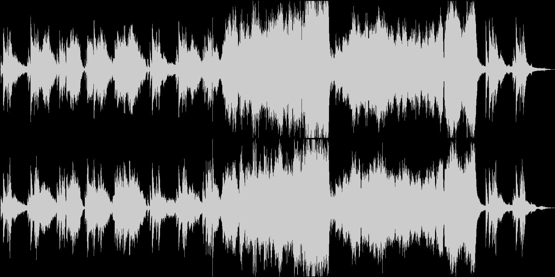 ファンタジックなプロローグの未再生の波形