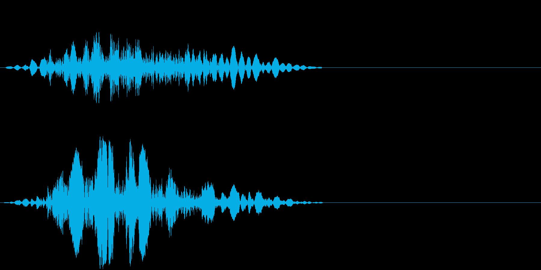 ガラス付引き戸を開ける音の再生済みの波形