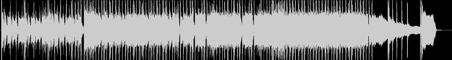 疾走感のあるパワフルなロックの未再生の波形