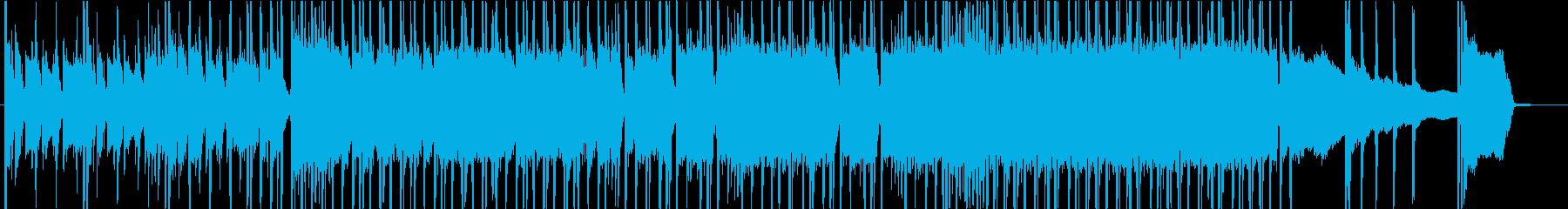 疾走感のあるパワフルなロックの再生済みの波形