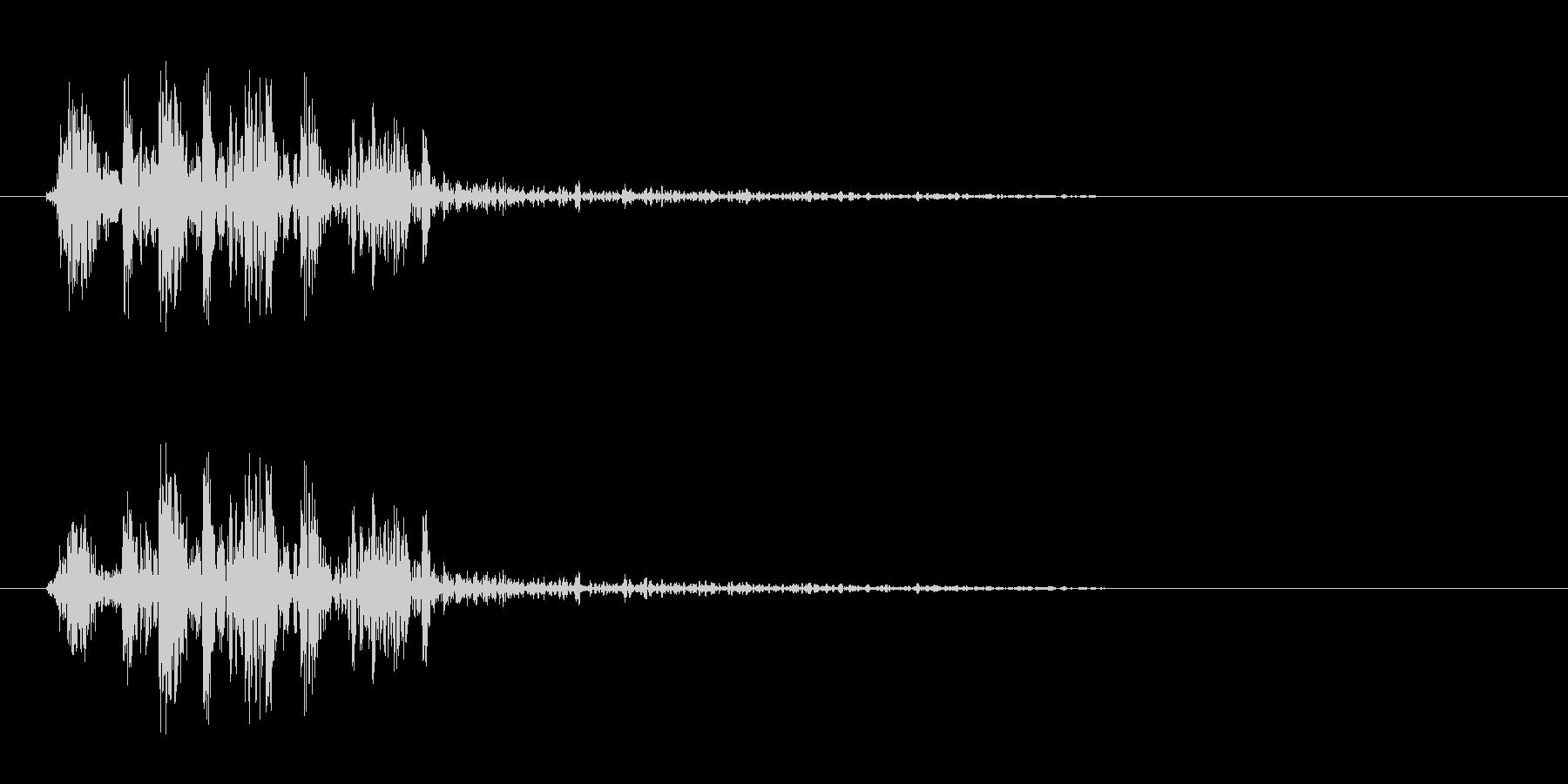 割れた時やショックな時の効果音の未再生の波形