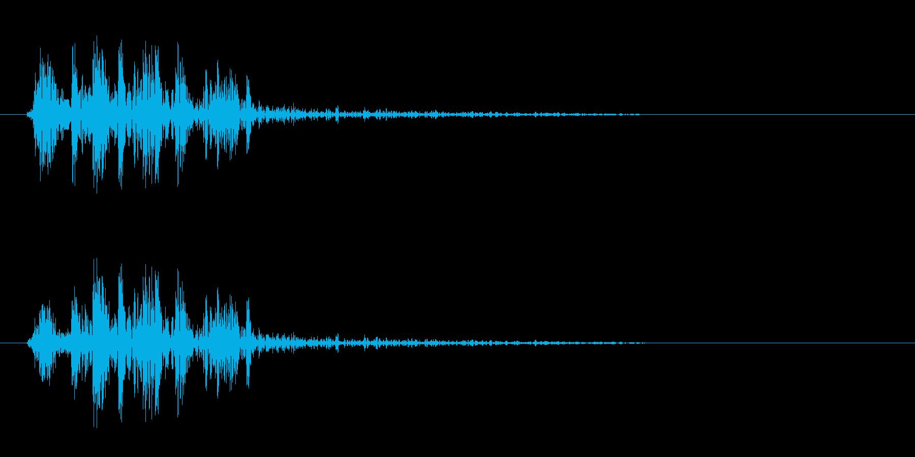 割れた時やショックな時の効果音の再生済みの波形