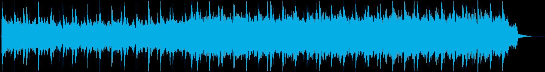 不思議な浮遊感あるシンセサイザーの曲の再生済みの波形