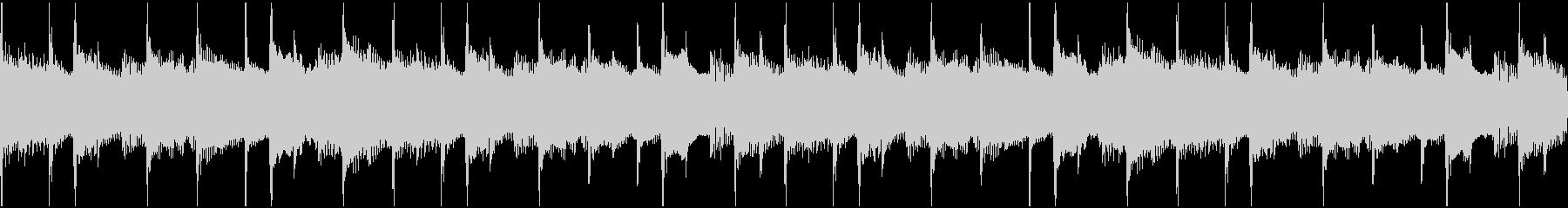 淡々と流れる無機質なBGM(ループ)の未再生の波形