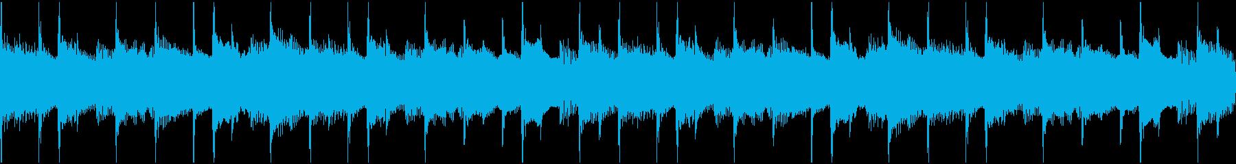 淡々と流れる無機質なBGM(ループ)の再生済みの波形