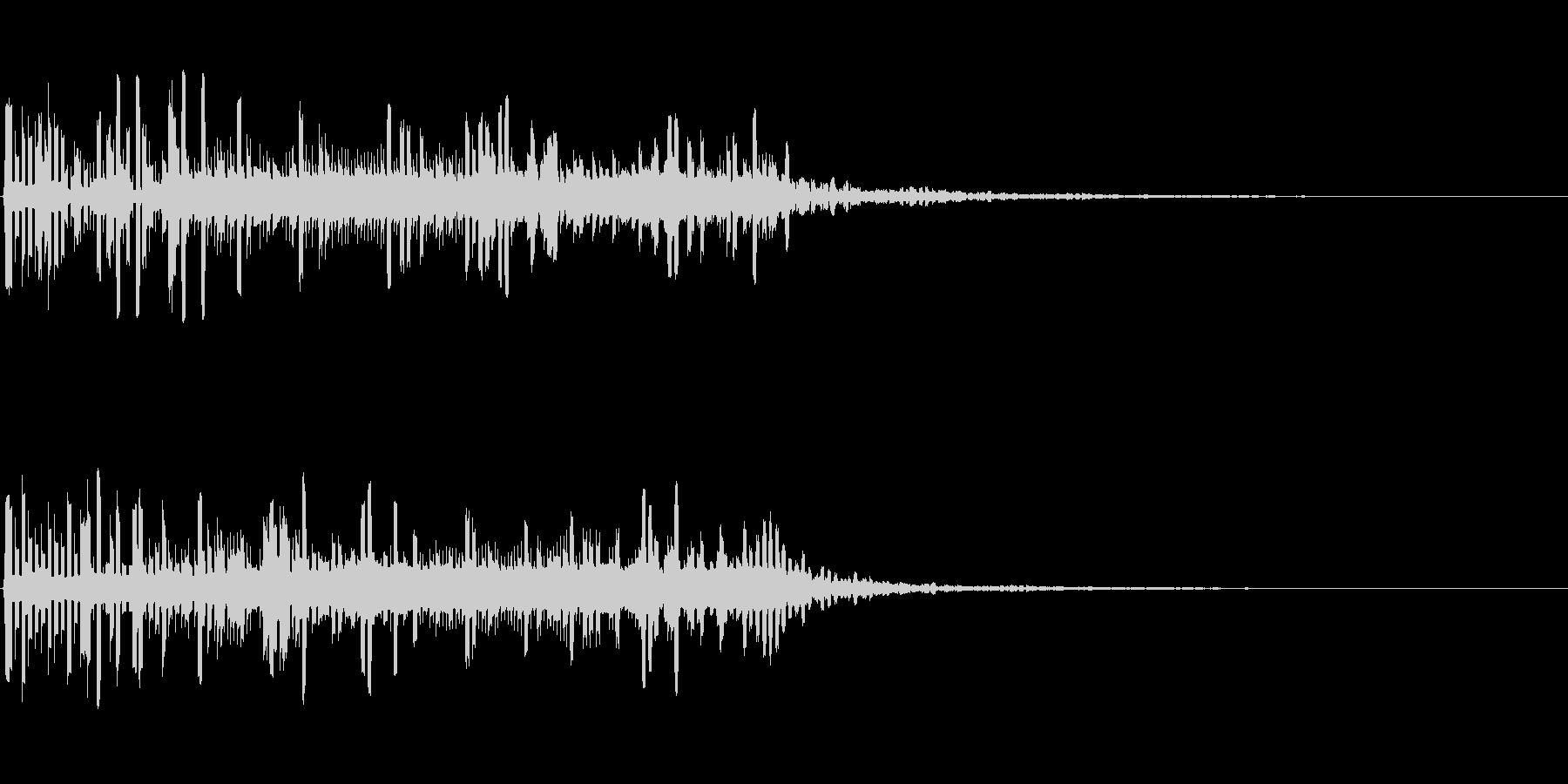 宇宙的・機械的な電子音の未再生の波形