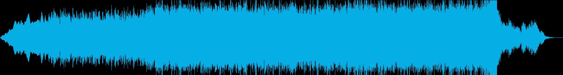シンセサイザーの幻想的な曲の再生済みの波形