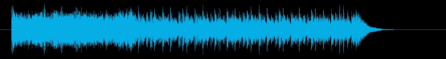 疾走感のあるデジタル系サウンドの再生済みの波形