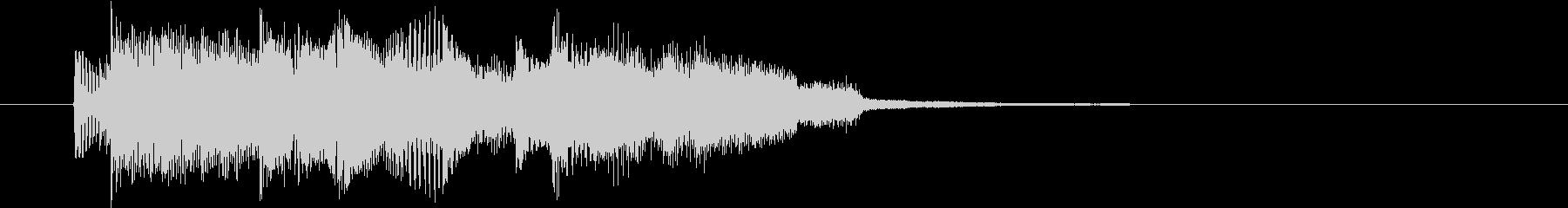 ムーディーなジャズ的なジングルの未再生の波形