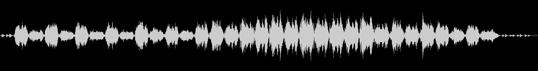 ゆっくりおおらかな曲の未再生の波形
