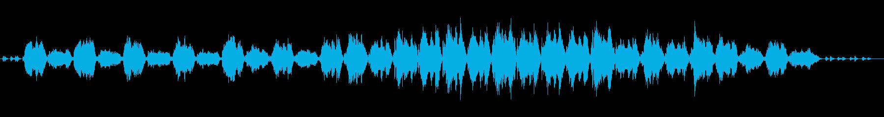 ゆっくりおおらかな曲の再生済みの波形